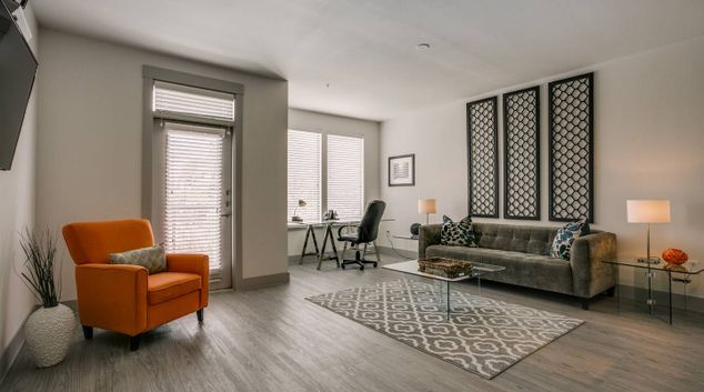 Open Plan Living Room at Park West Apartment