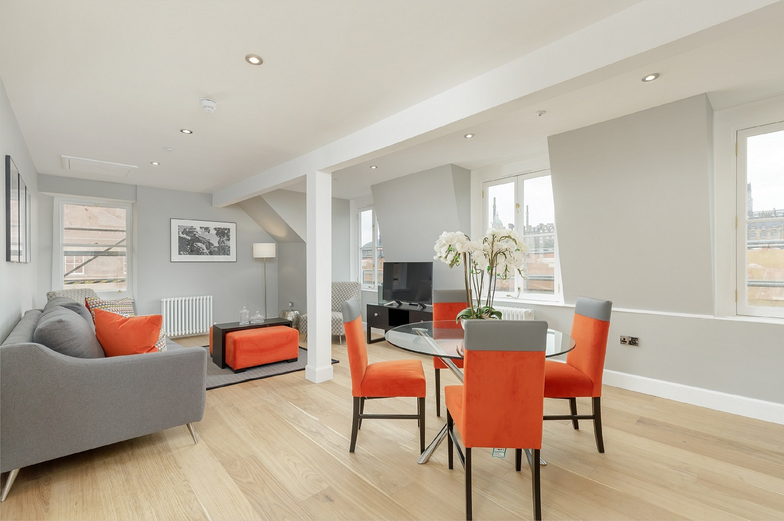 Dining table at Hanover Serviced Apartments