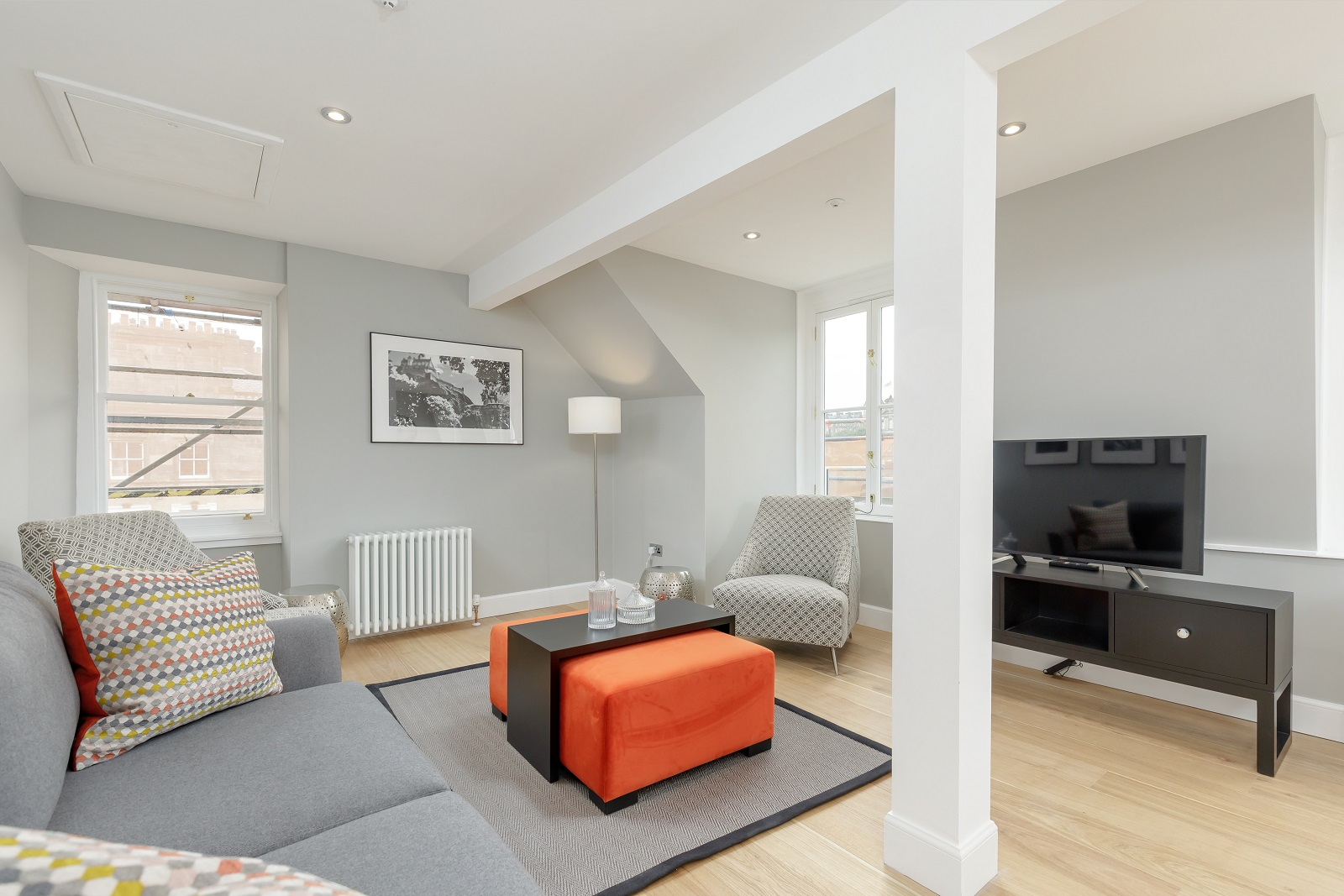 Living area at Hanover Serviced Apartments