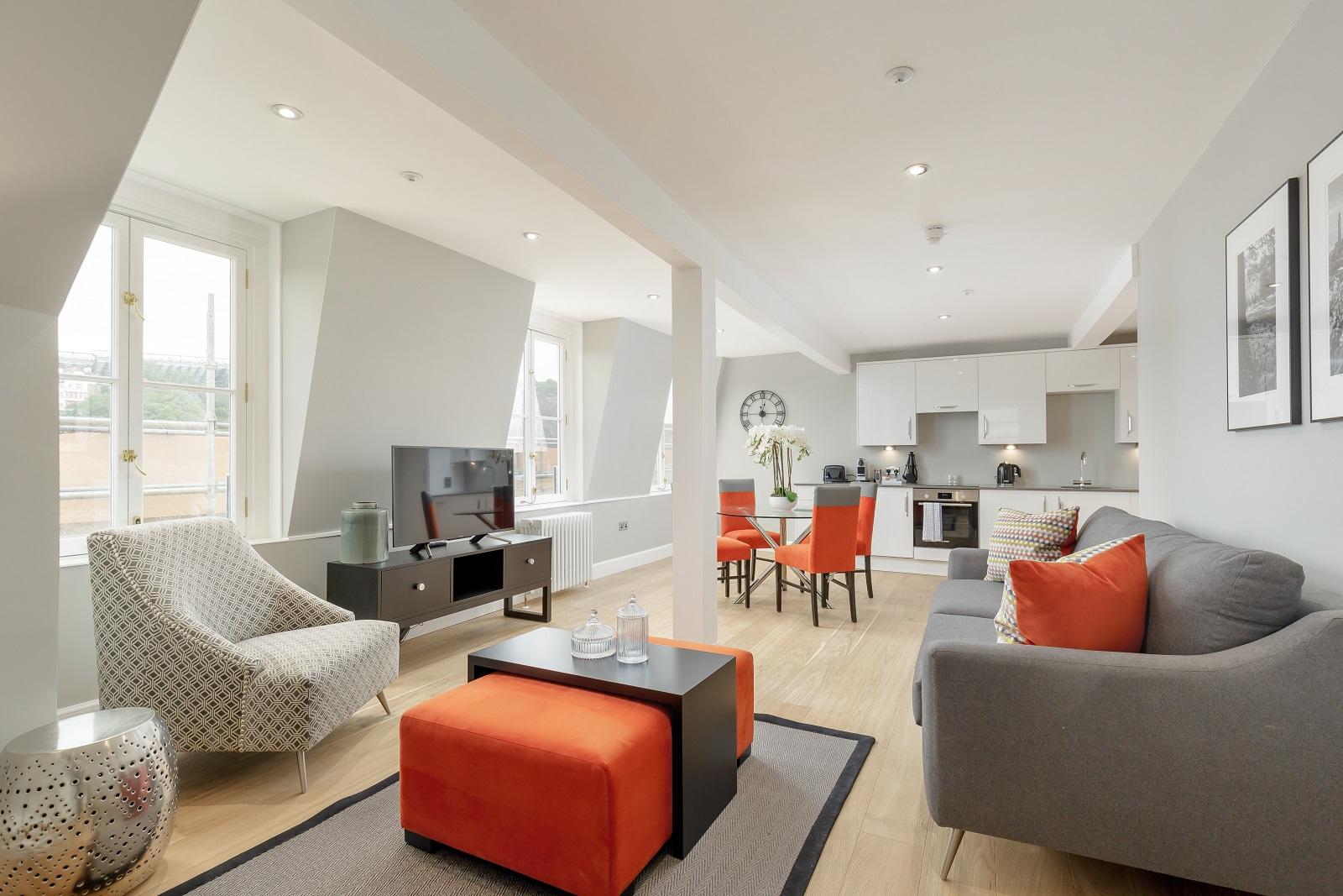 Living room at Hanover Serviced Apartments