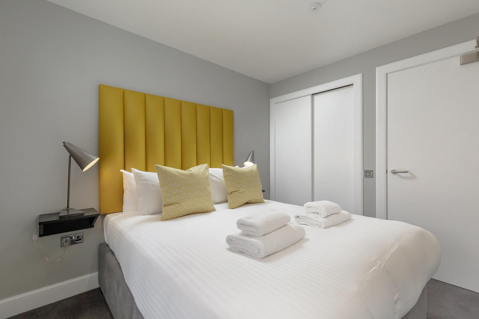 Spacious bed at Hanover Serviced Apartments