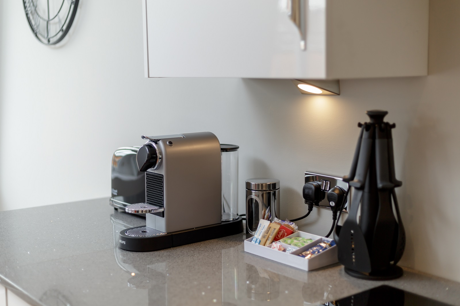 Coffee machine at Hanover Serviced Apartments