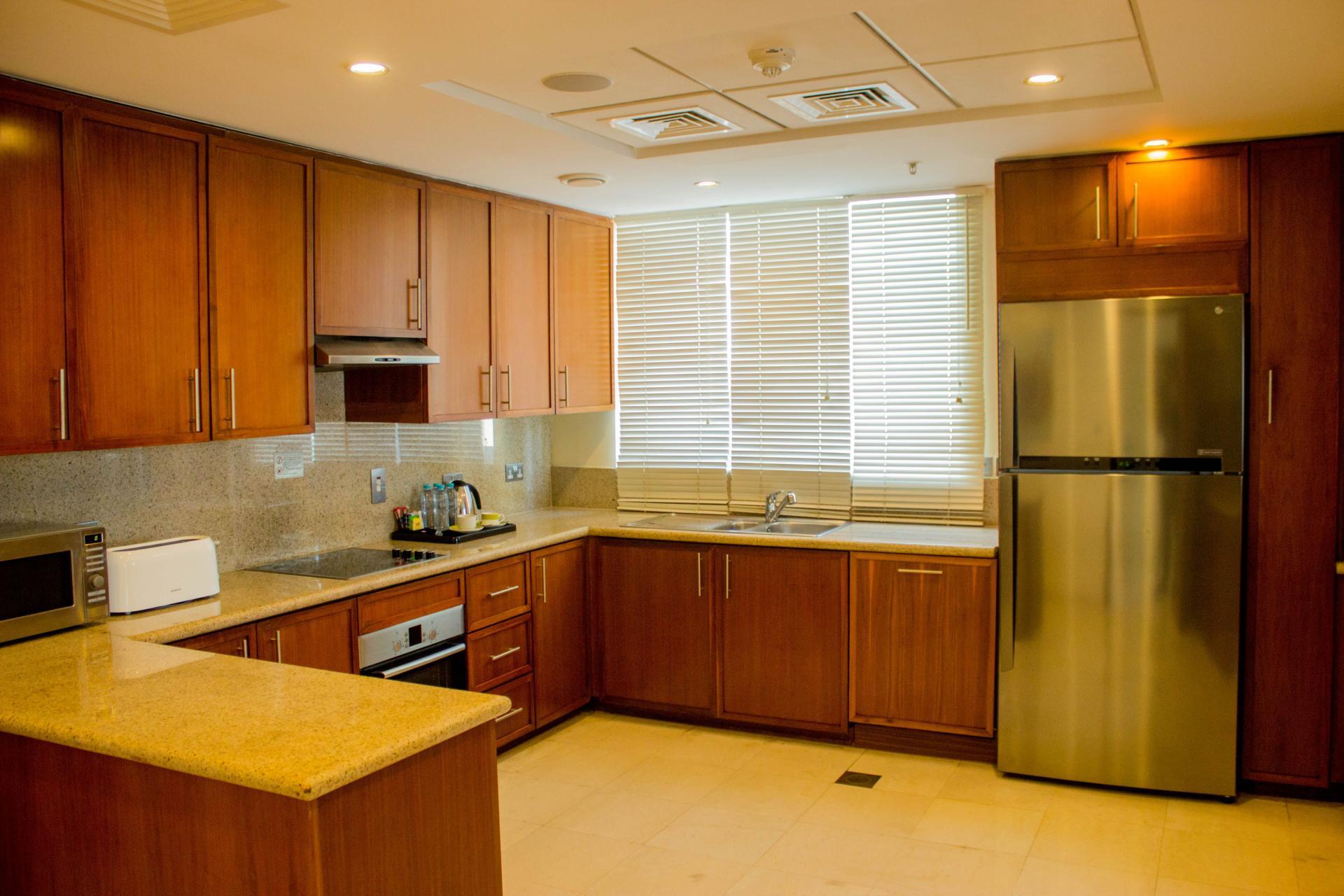 Kitchen at Ramada Downtown Dubai Apartments