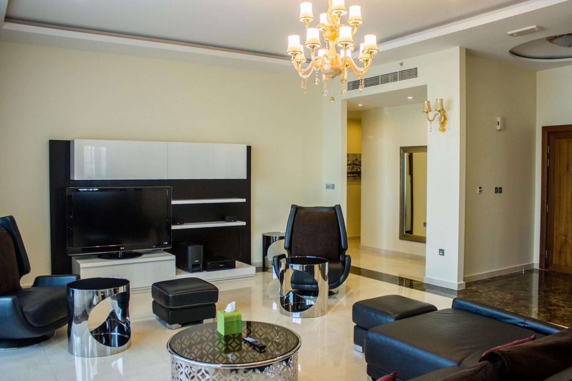 Sitting room at Ramada Downtown Dubai Apartments