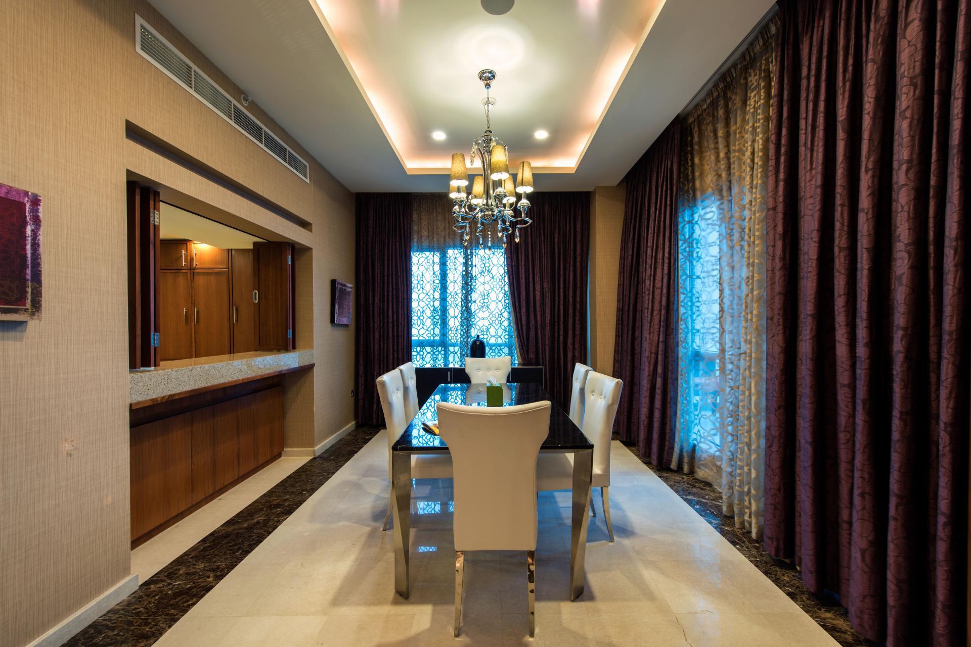 Dining room at Ramada Downtown Dubai Apartments