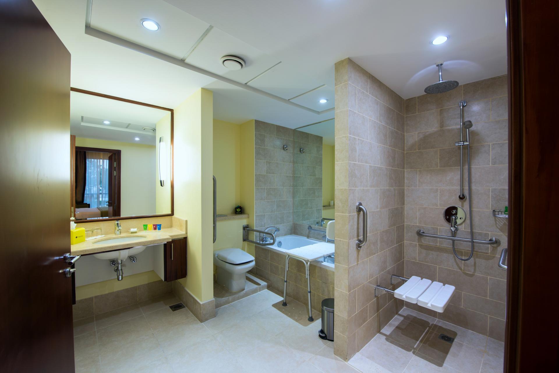 Accessible bathroom at Ramada Downtown Dubai Apartments