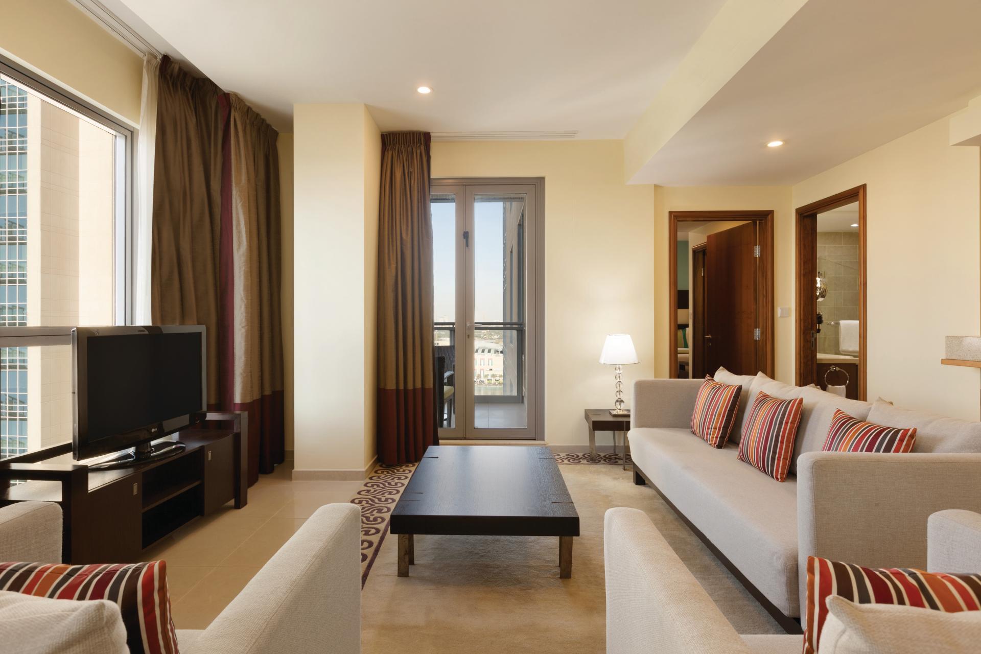 Sofa at Ramada Downtown Dubai Apartments