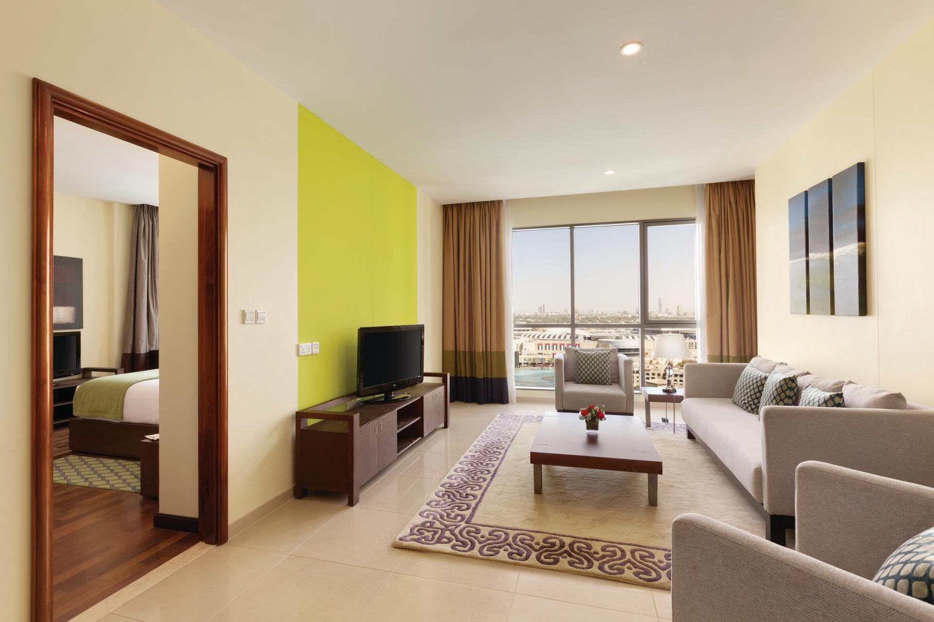 Bright lounge at Ramada Downtown Dubai Apartments
