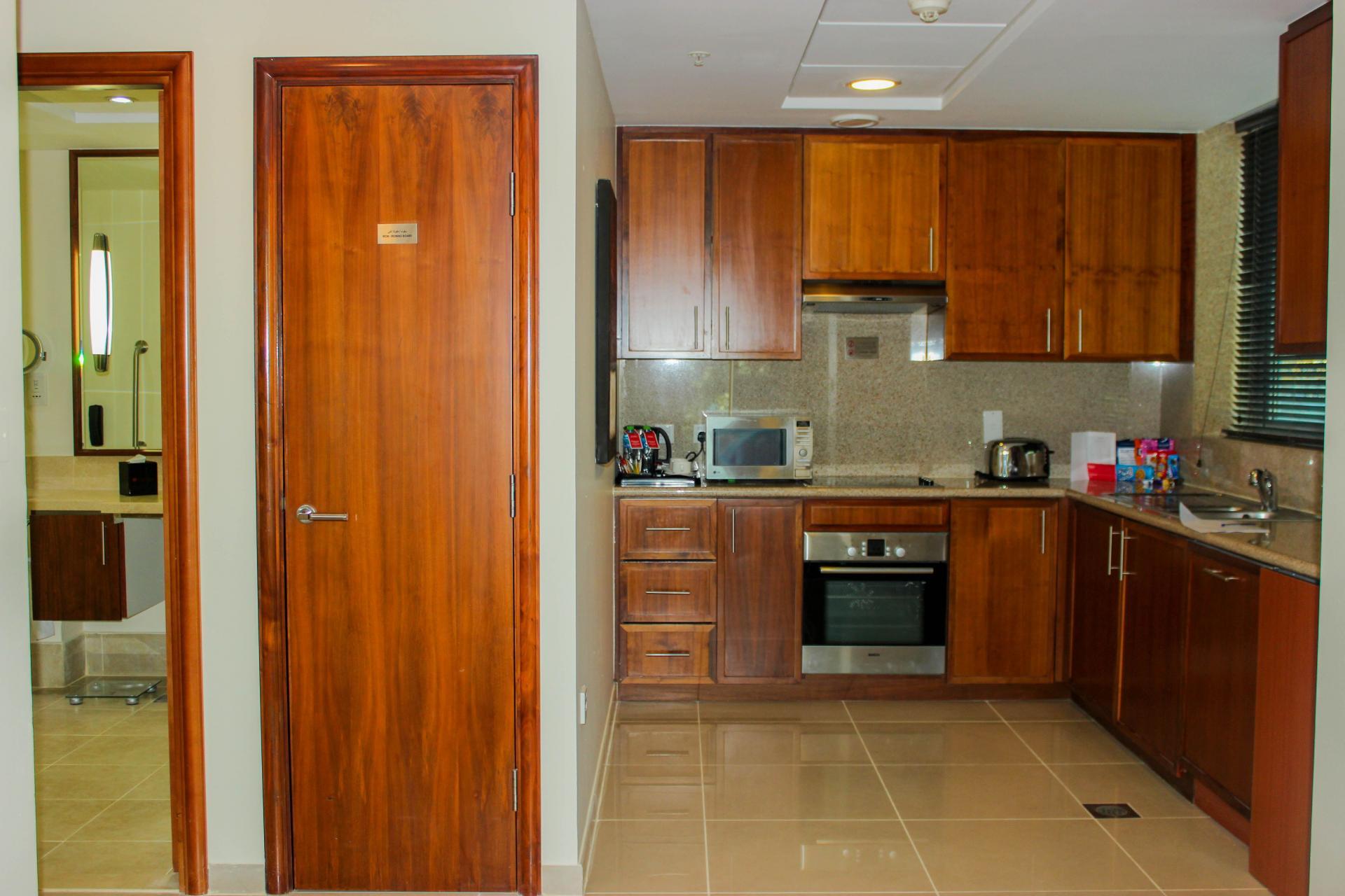 Large kitchen at Ramada Downtown Dubai Apartments