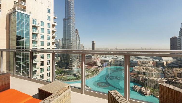 Balcony at Ramada Downtown Dubai Apartments