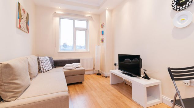 Living area at Kings Cross Corporate Accommodation