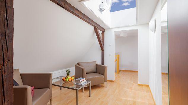Living space at Aussersihl Apartments, Werd, Zurich