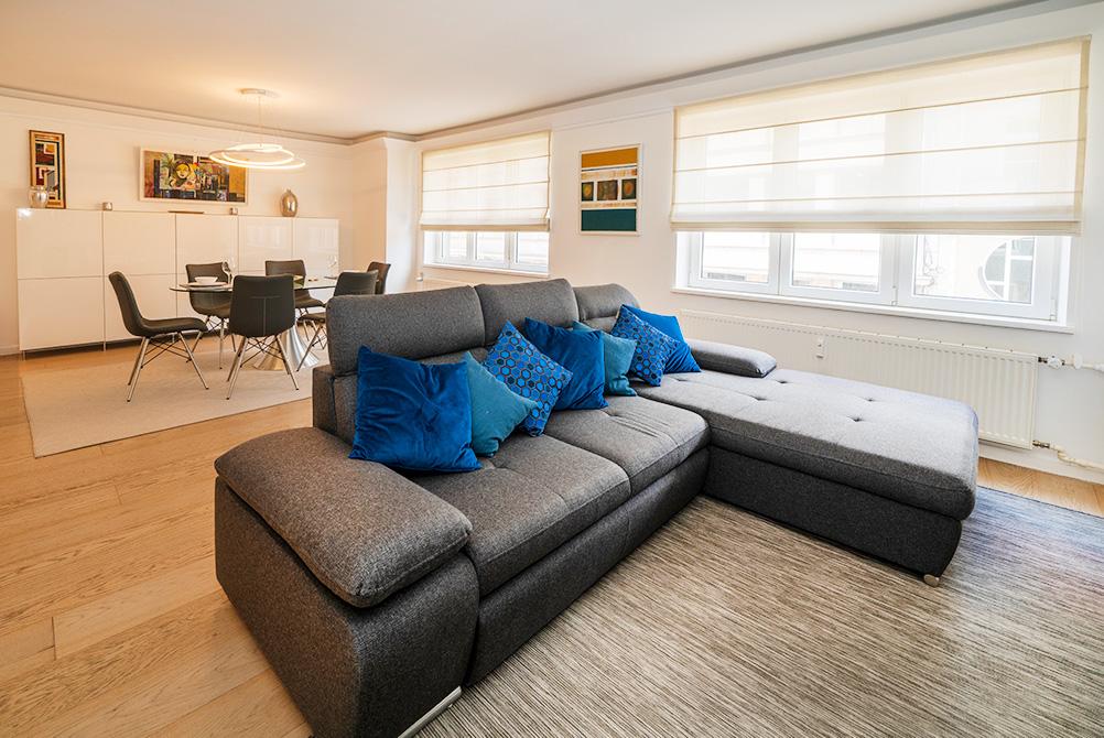 Living Room at Rue Des Bains Apartment