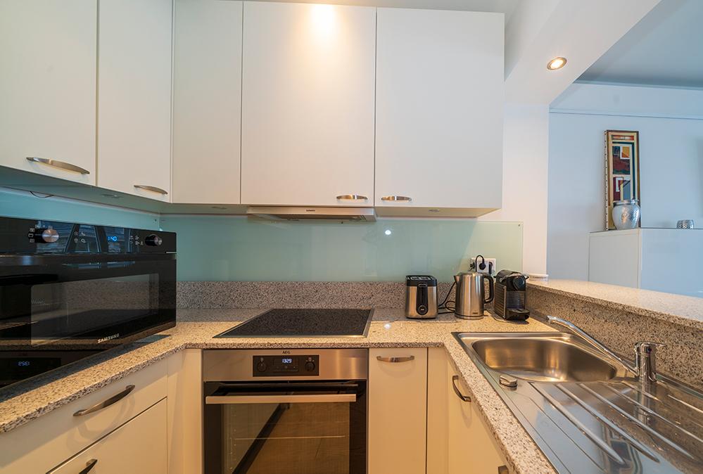 Kitchen at Rue Des Bains Apartment