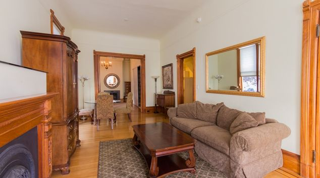 Living area at Pacific Heights Victorian Apartment, Cow Hollow, San Francisco