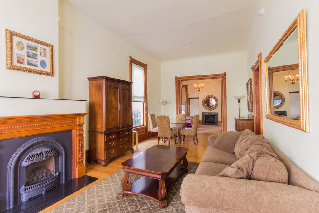 Fireplace at Pacific Heights Victorian Apartment, Cow Hollow, San Francisco