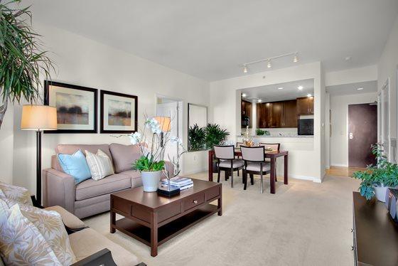 Living Room at Strata at Mission Bay Apartment