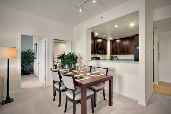 Dining Room at Mission Bay Apartment