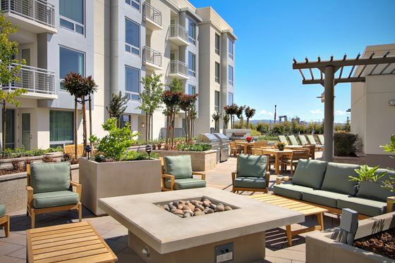 Out Door Lounge Area at Mission Bay Apartment