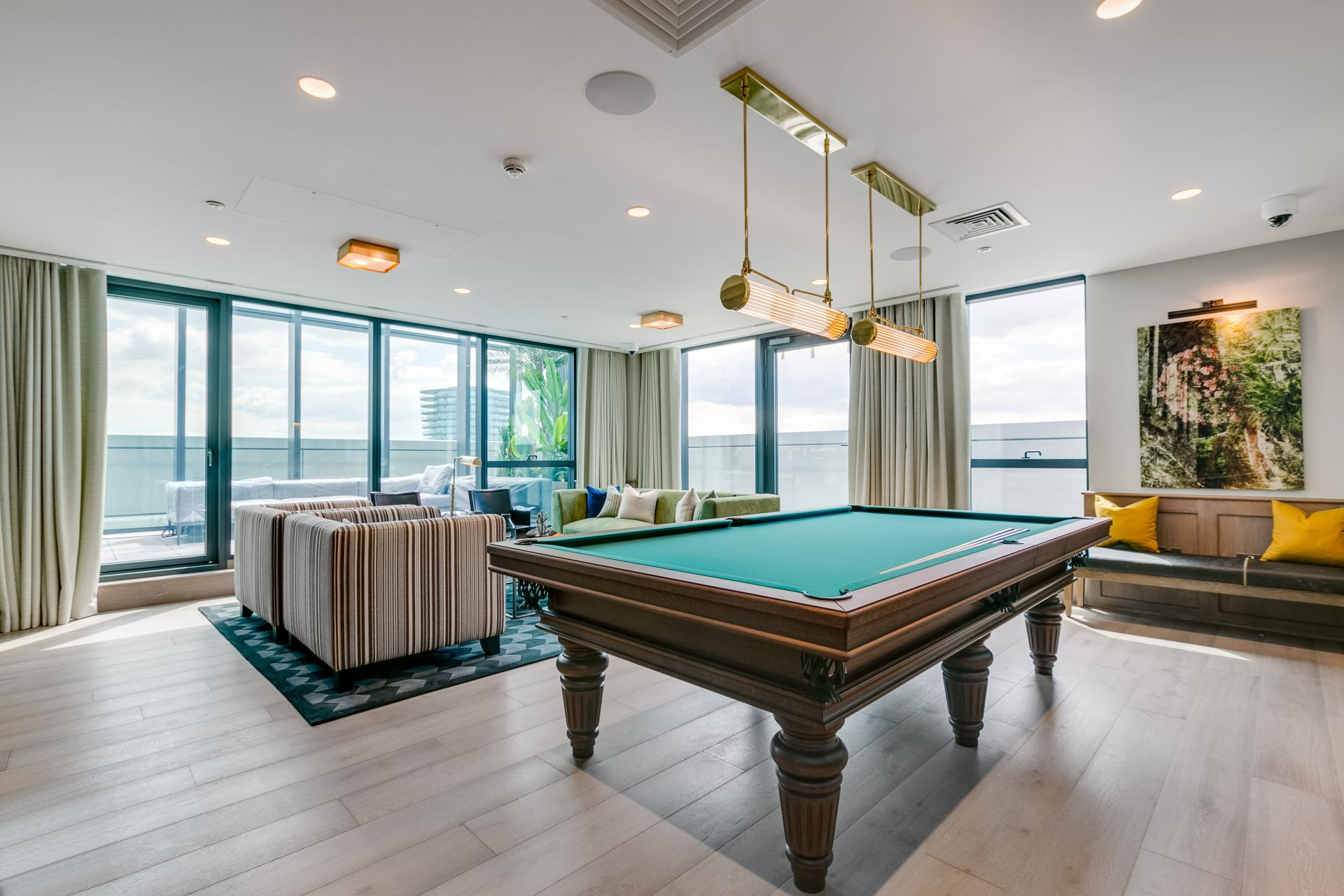 Pool table at Sailmakers Apartments