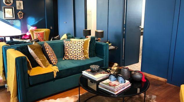 Living room at Bleu Fonce Apartment, Retiro, Buenos Aires