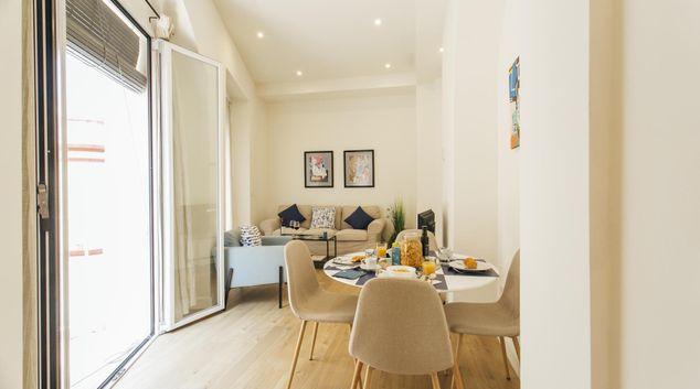 Living area at Gerona Apartment