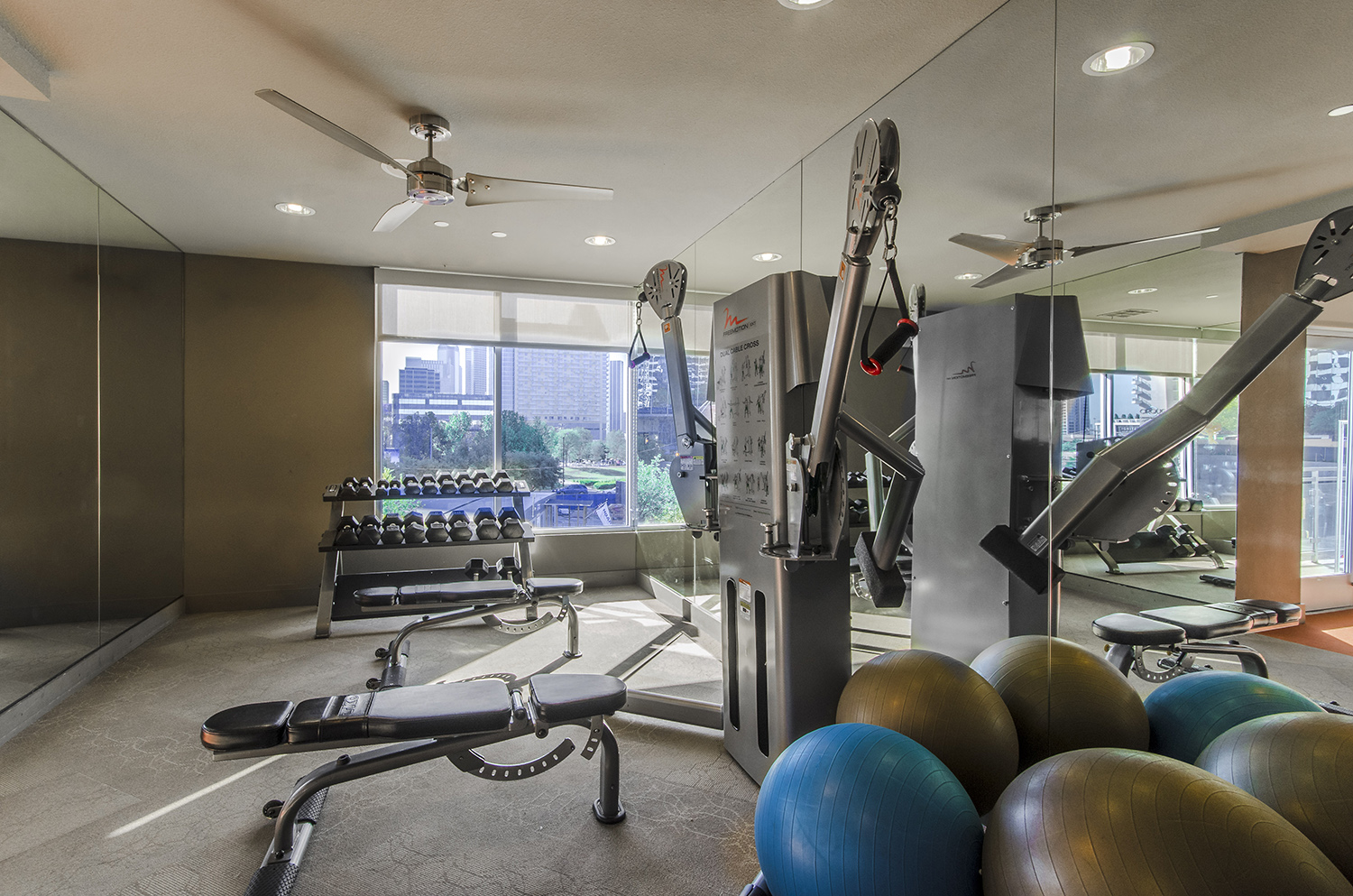 Fitness centre at Moda Luxury Apartments
