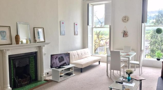 Lounge at Grosvenor Apartments Bath