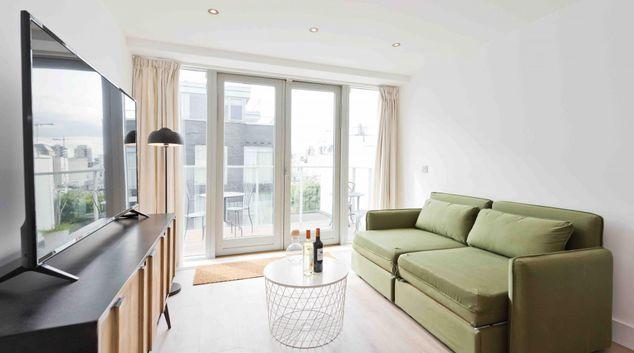 Living area at 15 Fitzwilliam Quay Apartment