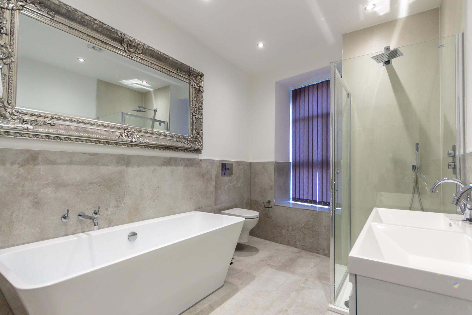Bathroom at The Crescent Serviced Apartments