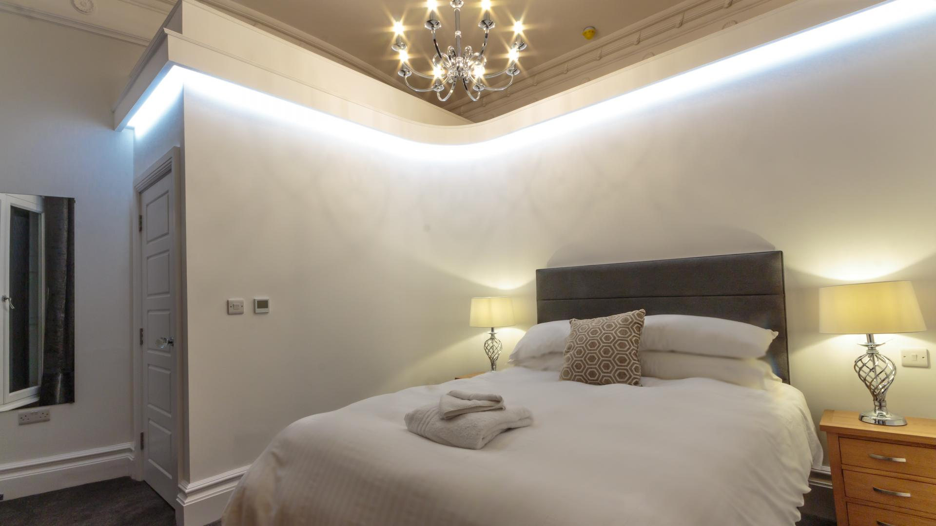 Windsor bedroom at The Crescent Serviced Apartments