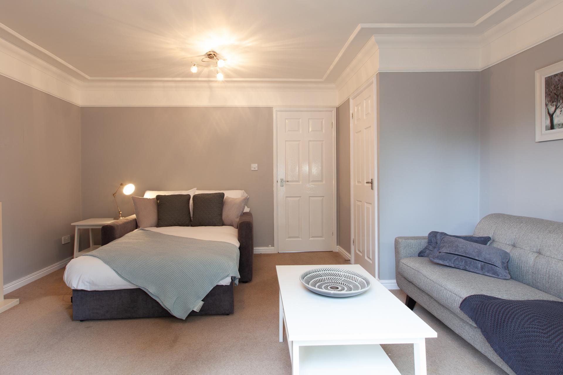 Sofa bed at Barry Road House, Abington, Northampton