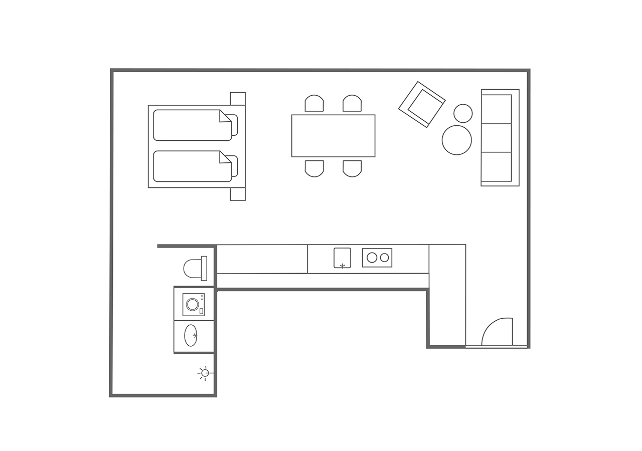 Floor plan at Charlottehaven Apartments, Centre, Copenhagen