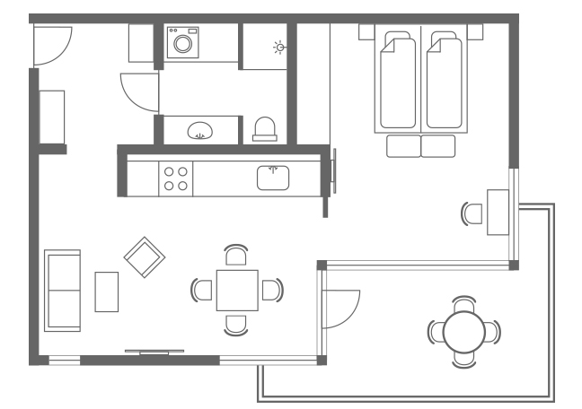 Floor plan 2 at Charlottehaven Apartments, Centre, Copenhagen