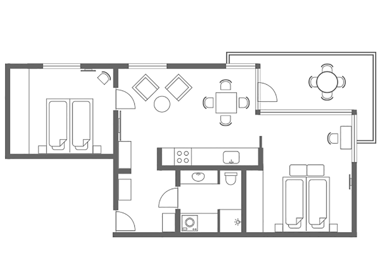 Floor plan 3 at Charlottehaven Apartments, Centre, Copenhagen