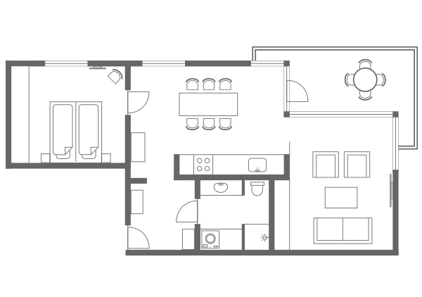 Floor plan 4 at Charlottehaven Apartments, Centre, Copenhagen