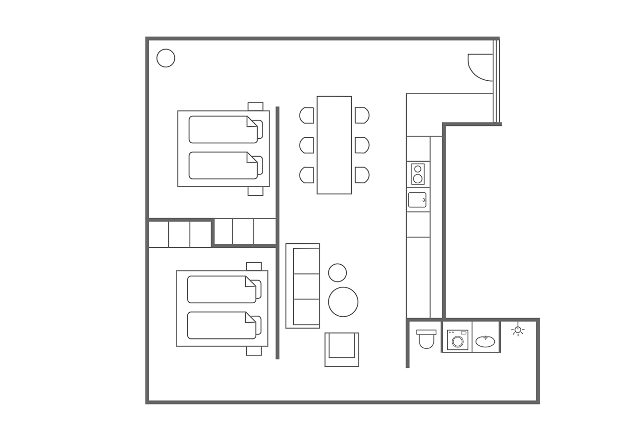 Floor plan 6 at Charlottehaven Apartments, Centre, Copenhagen