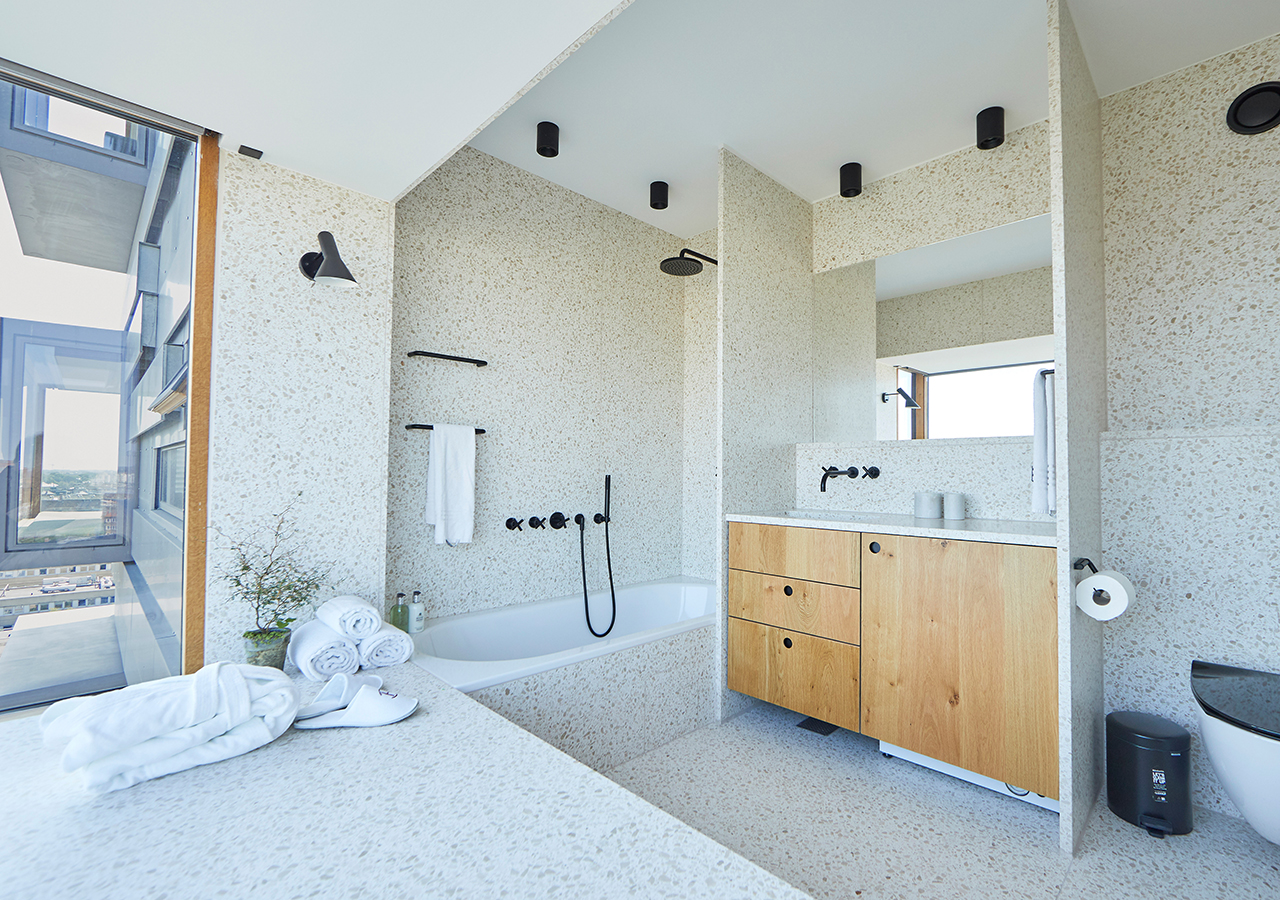 Shower bath at Charlottehaven Apartments, Centre, Copenhagen