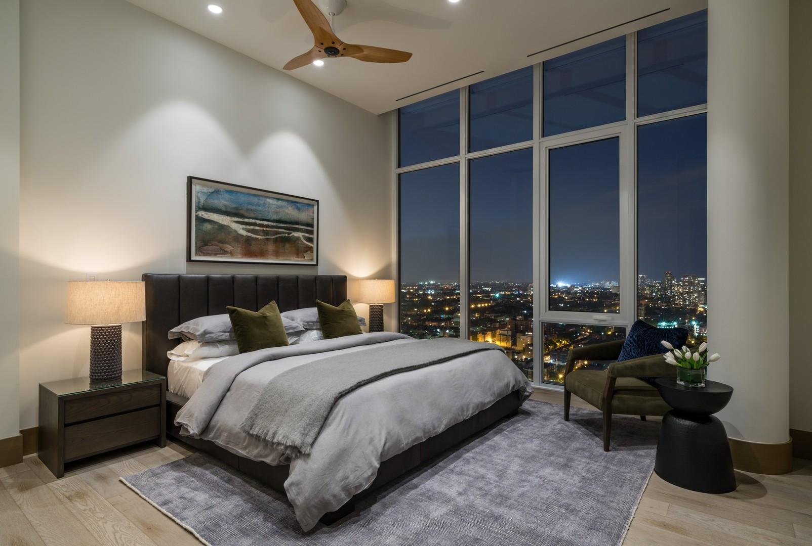 Bedroom at Level Furnished Living, Near North Side, Chicago