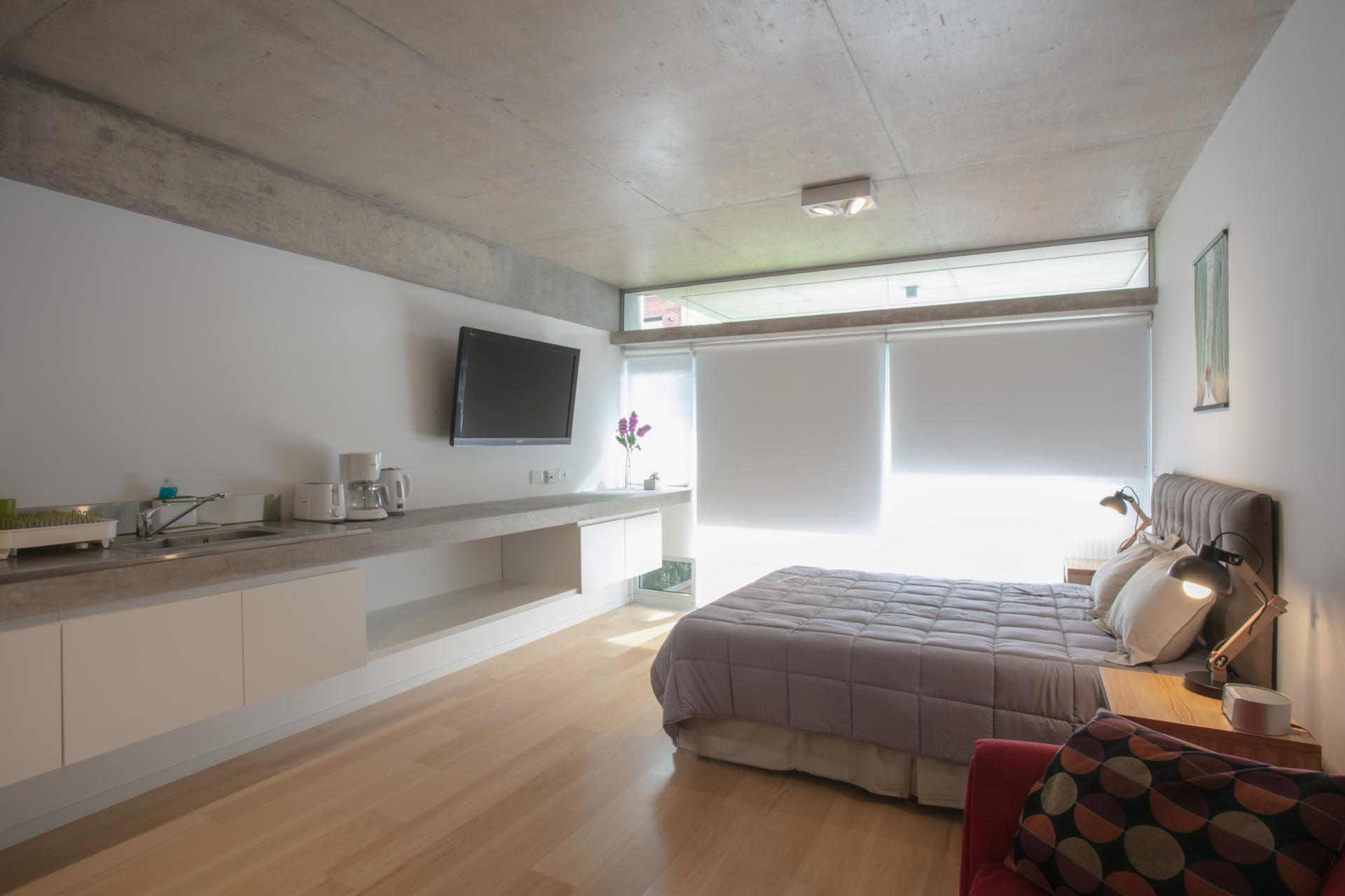 Double bed at Hollywood Nippon Apartment