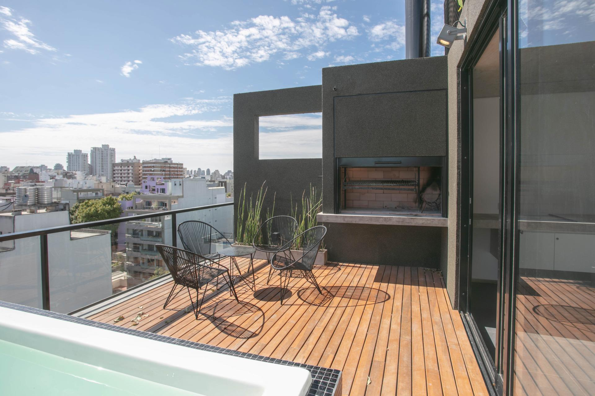 Outdoor area at Hollywood Nippon Apartment