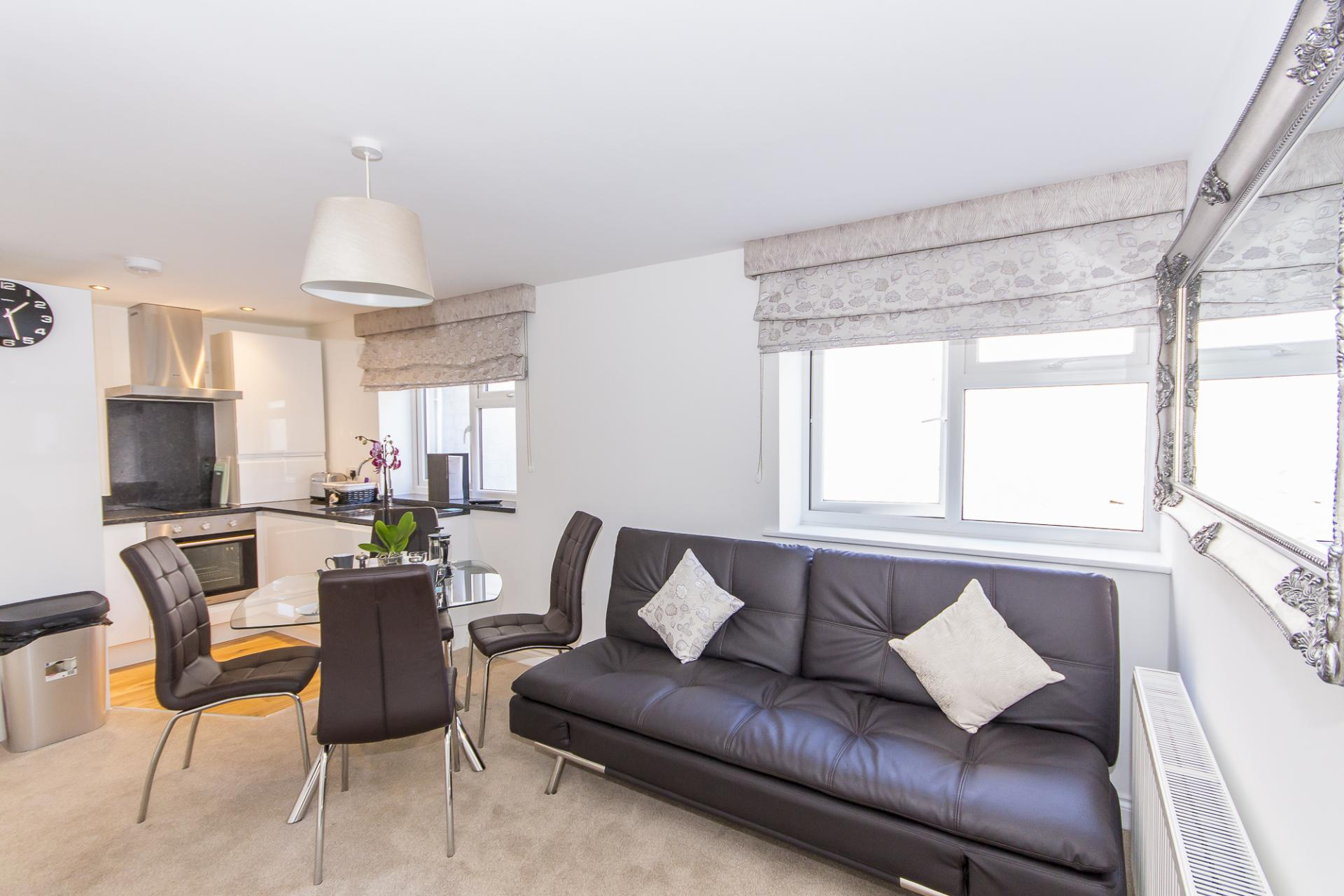Living area at Durnford Street Apartment
