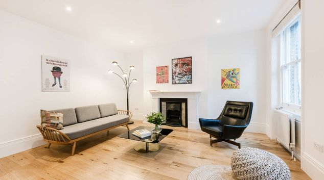 Living room at Covent Garden Floral Street Apartments
