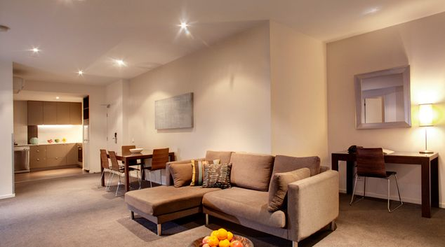 Living area at Punthill Knox Apartments