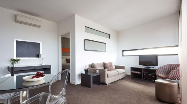 Living area at Punthill Dadenong Apartments