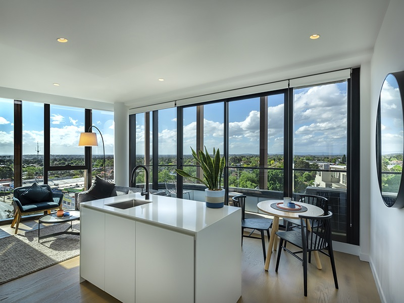 Living area at Punthill Ivanhoe Apartments