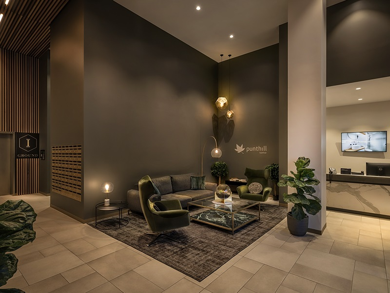 Reception at Punthill Ivanhoe Apartments