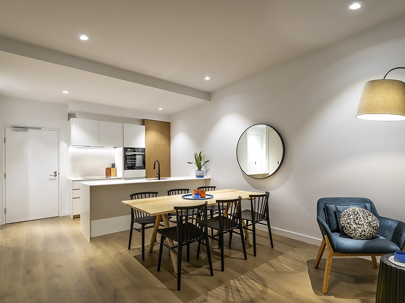 Dining area at Punthill Ivanhoe Apartments