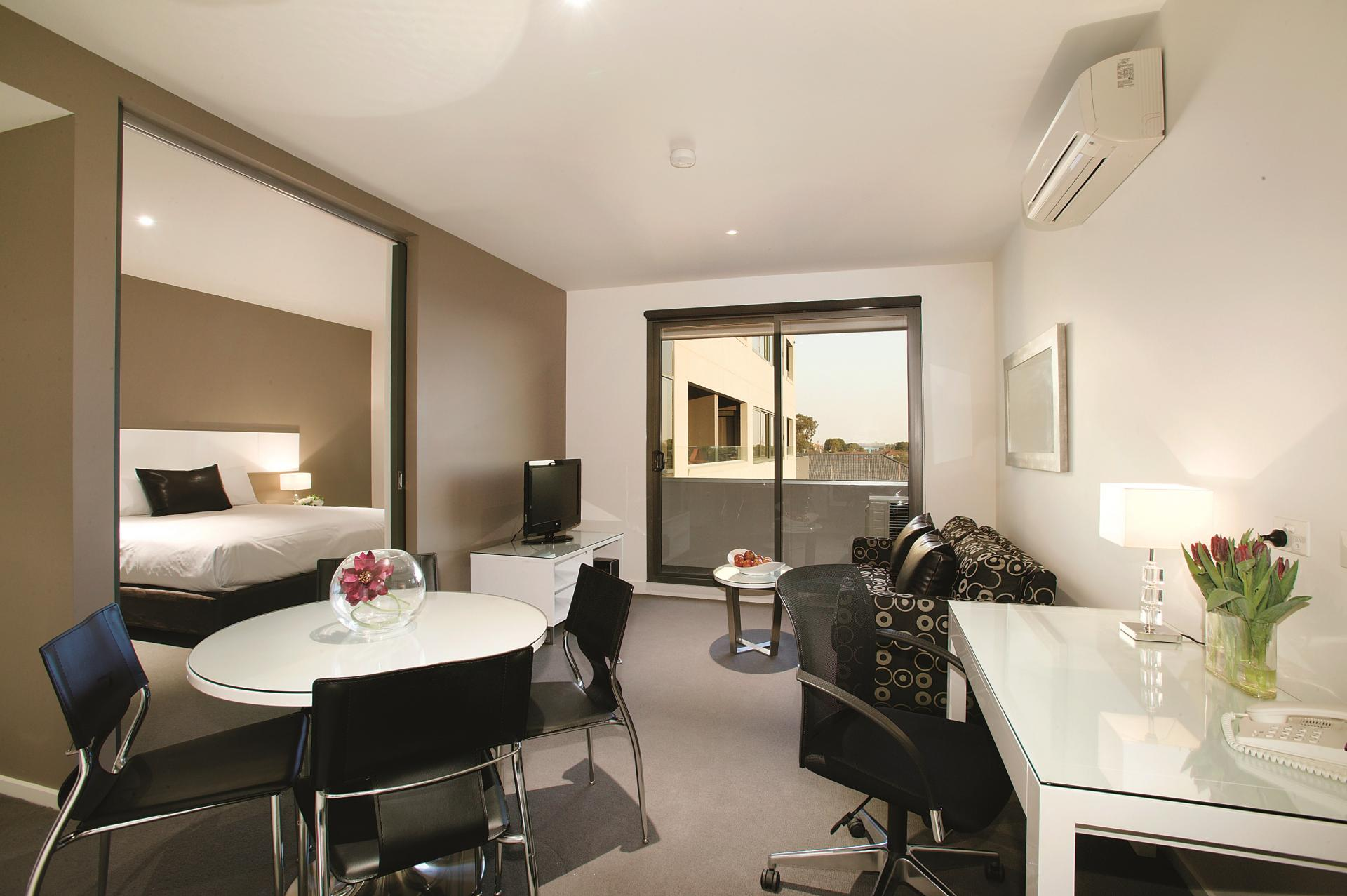 Living space at Punthill Oakleigh Apartments