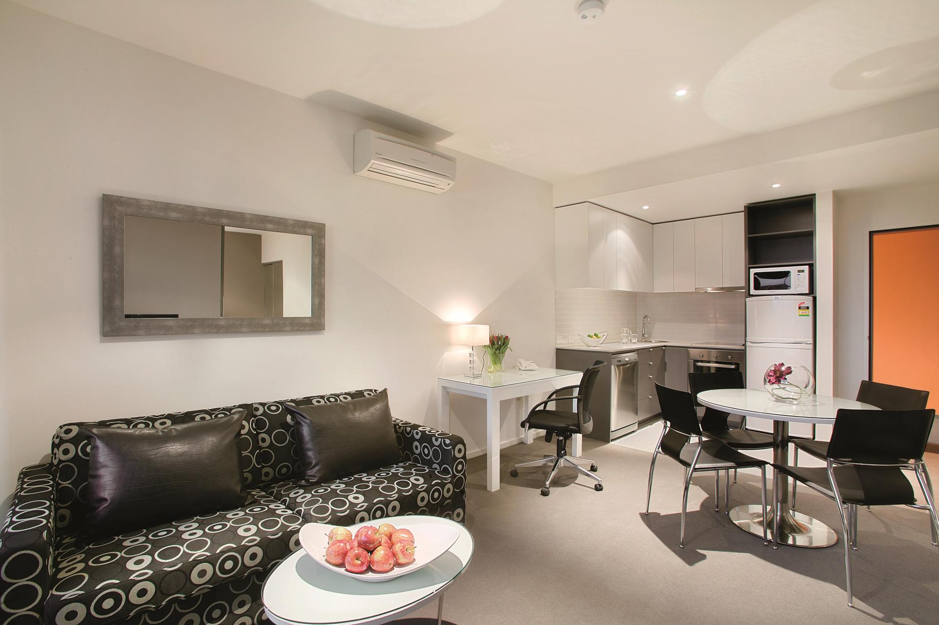 Open-plan layout at Punthill Oakleigh Apartments